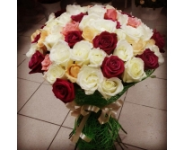 71 роза микс (70см)